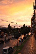 Sonnenuntergang in der Nähe vom Hafen