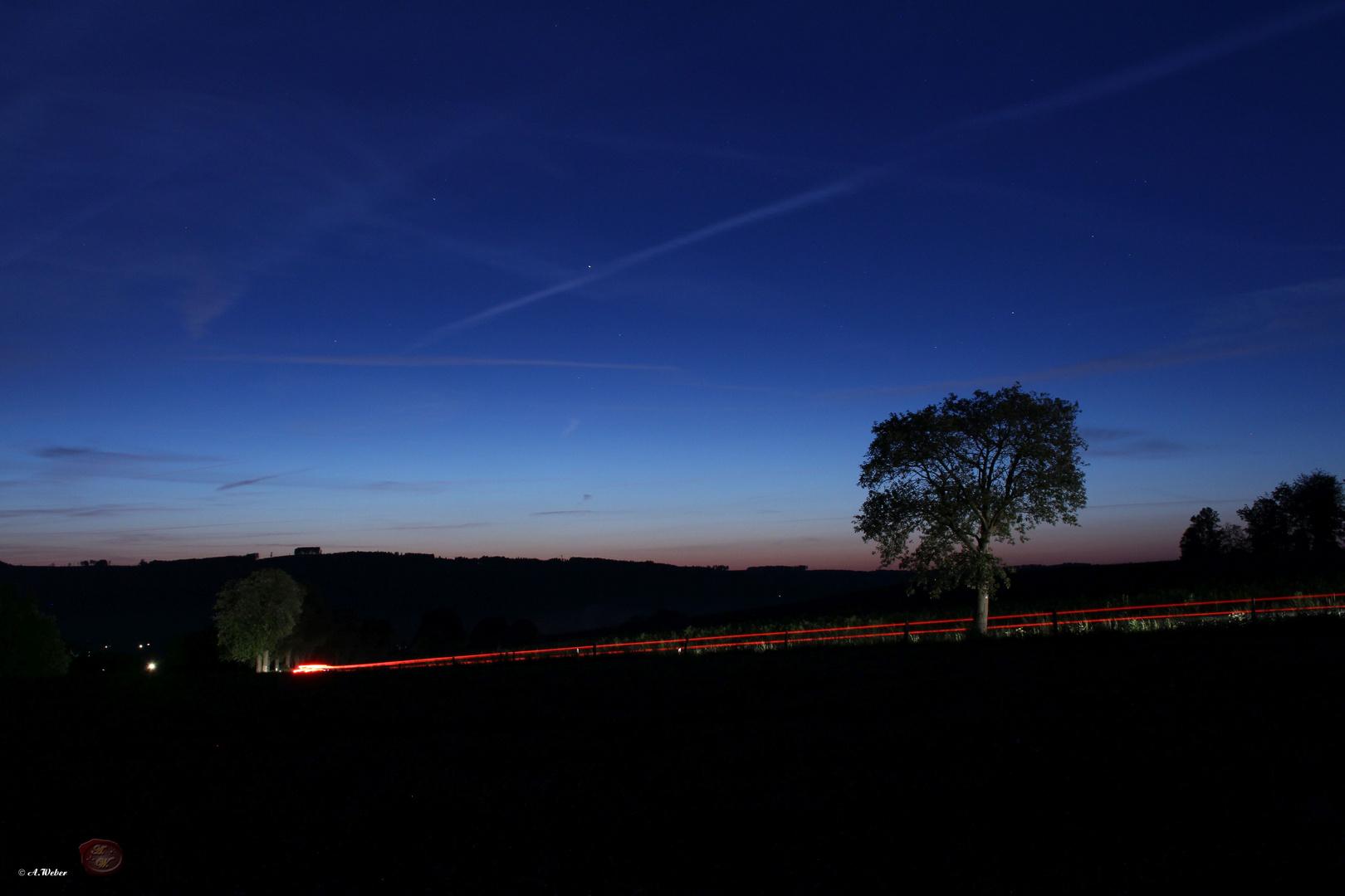 Sonnenuntergang in der nähe von Affeln NRW