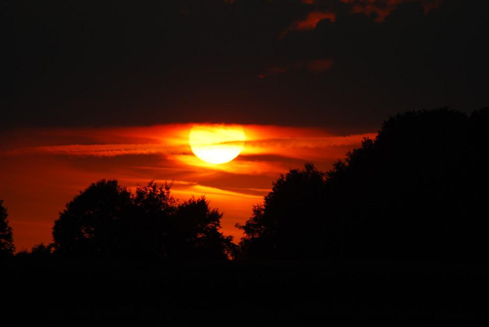 Sonnenuntergang in der Nähe von Ramsdorf