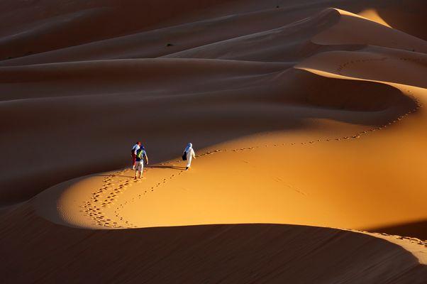 Sonnenuntergang in der Sahara 2015