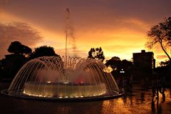 Sonnenuntergang in der Stadt
