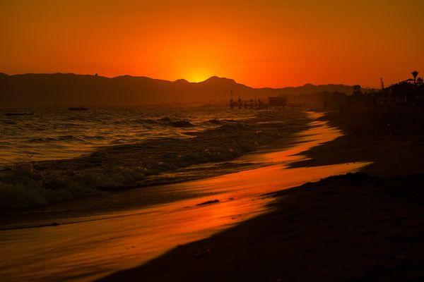 Sonnenuntergang in der Türkei