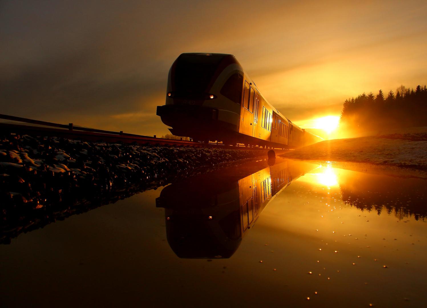 Sonnenuntergang in der Westseiermark