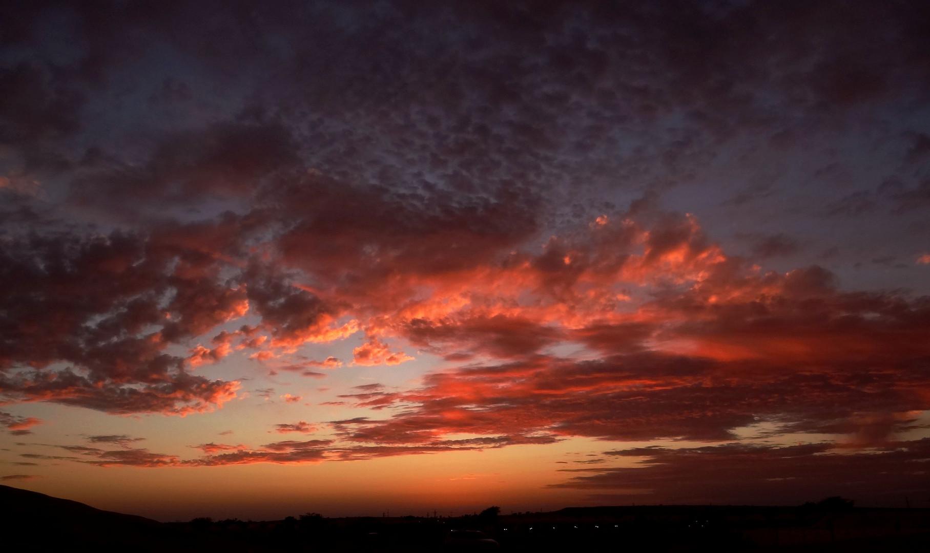 Sonnenuntergang in der Wüste Thar Indien