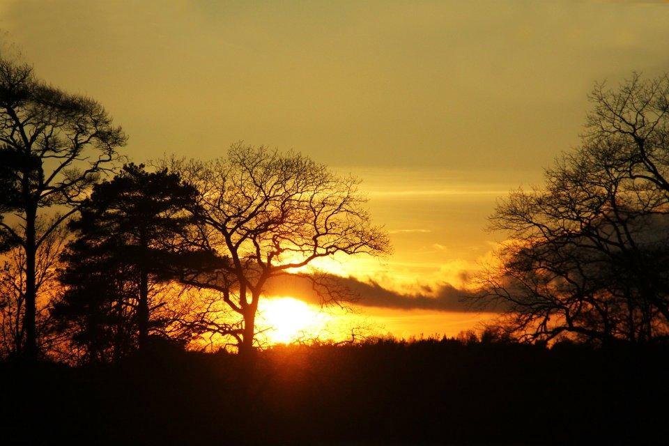 Sonnenuntergang in Deutschland