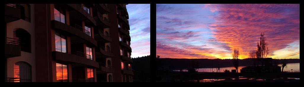 Sonnenuntergang in Dichato, Chile
