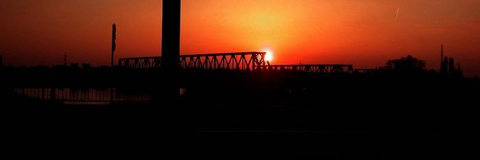 Sonnenuntergang in Duisburg 2