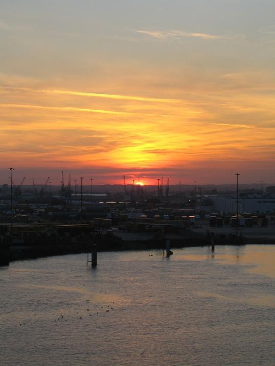 Sonnenuntergang in England