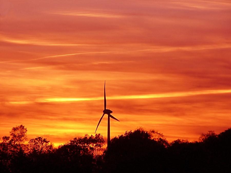 Sonnenuntergang in Enschede