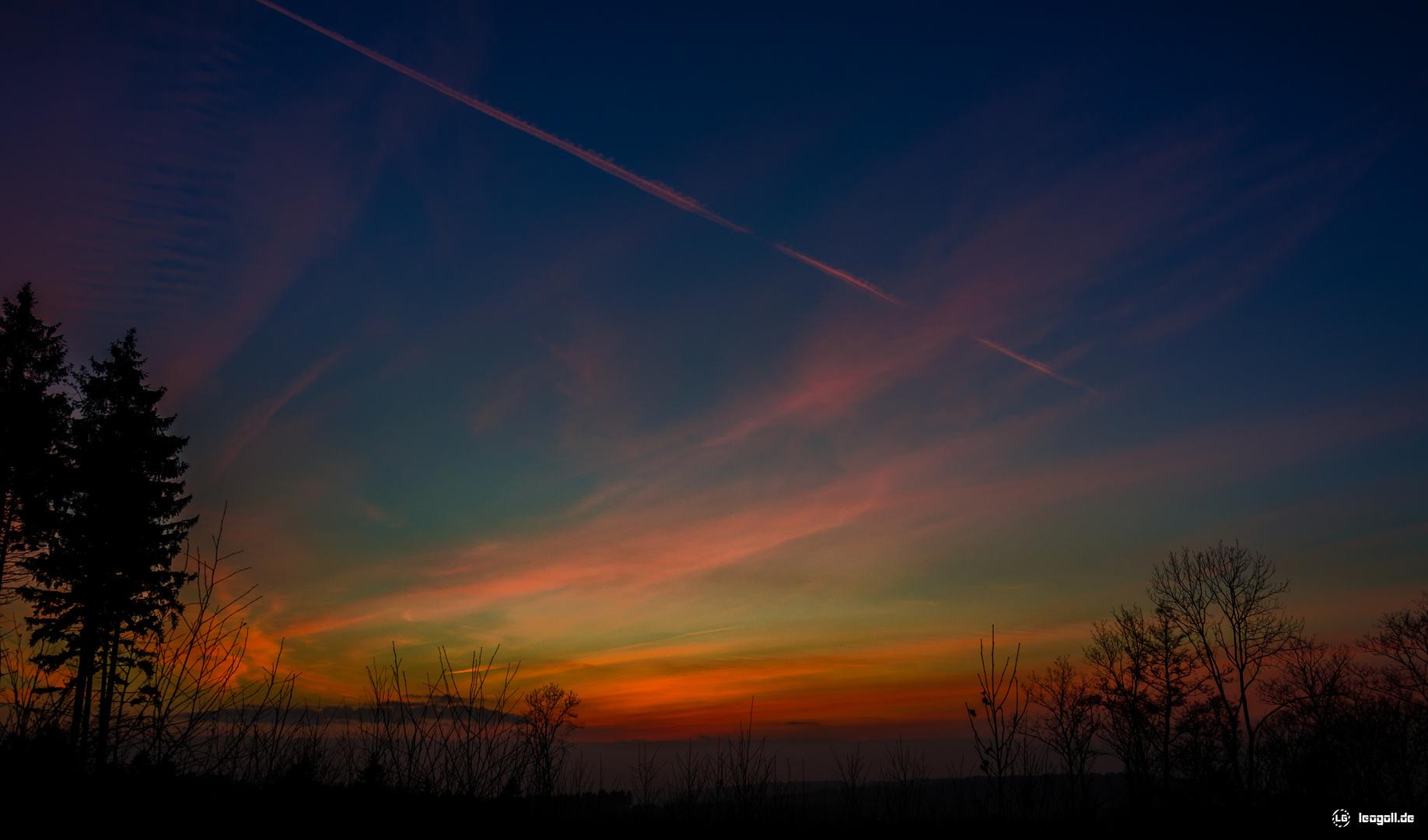 Sonnenuntergang in Ergste
