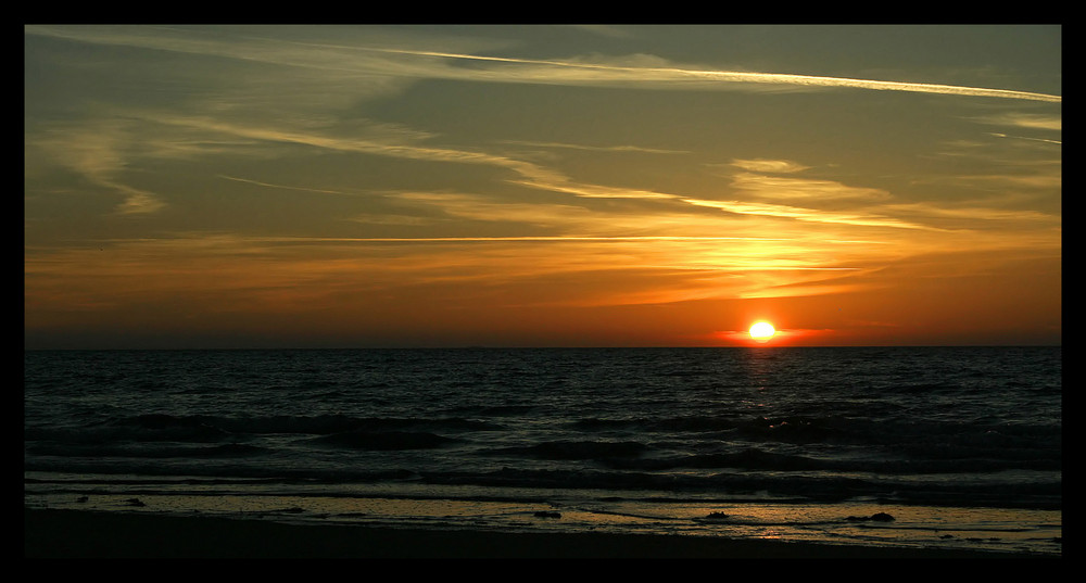 Sonnenuntergang in Erquy/Nähe Cap Frehel/Bretagne/Frankreich