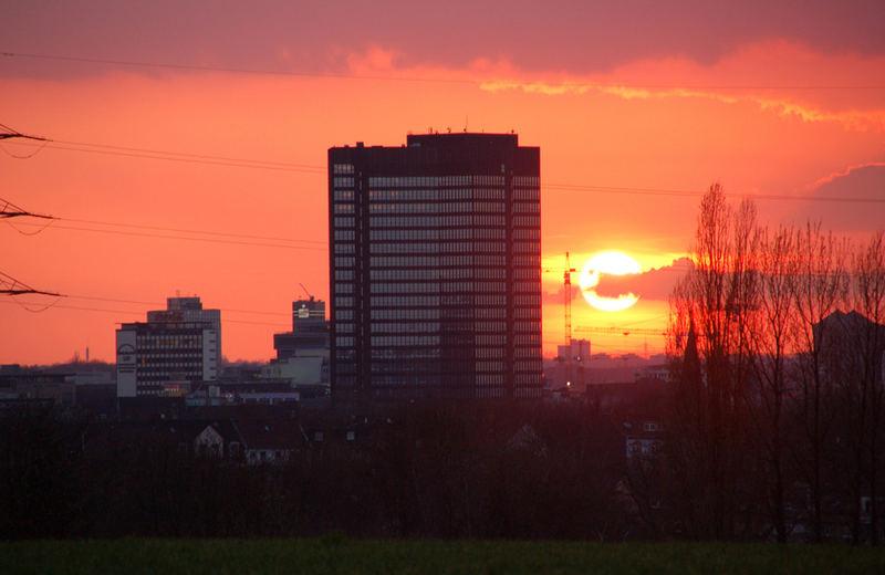Sonnenuntergang in Essen