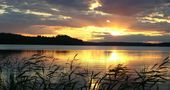 Sonnenuntergang in Finnland von Jutta Grote