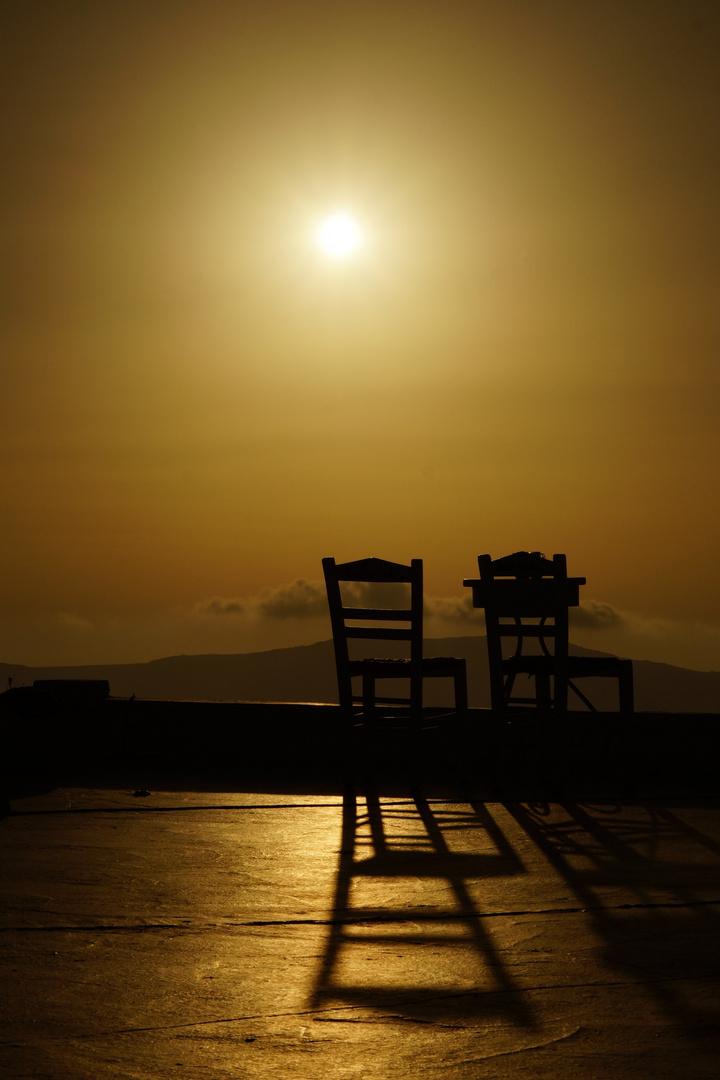 Sonnenuntergang in Firostefani