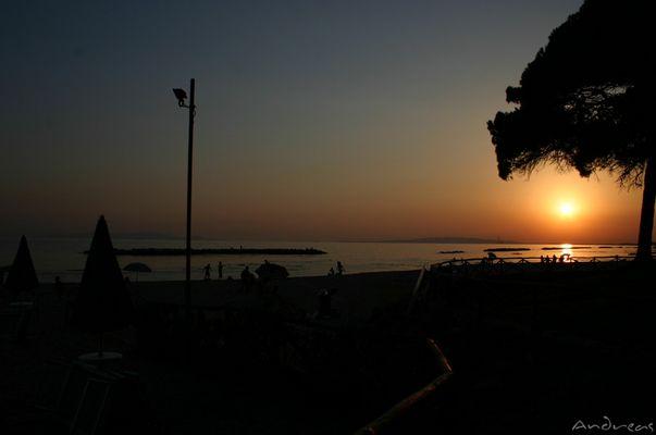 Sonnenuntergang in Follonica