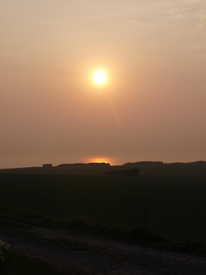 Sonnenuntergang in Frankreich