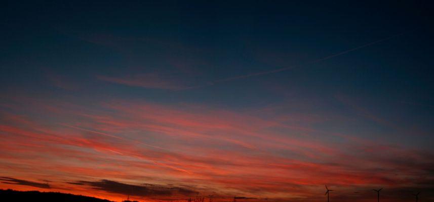 Sonnenuntergang in Frischborn
