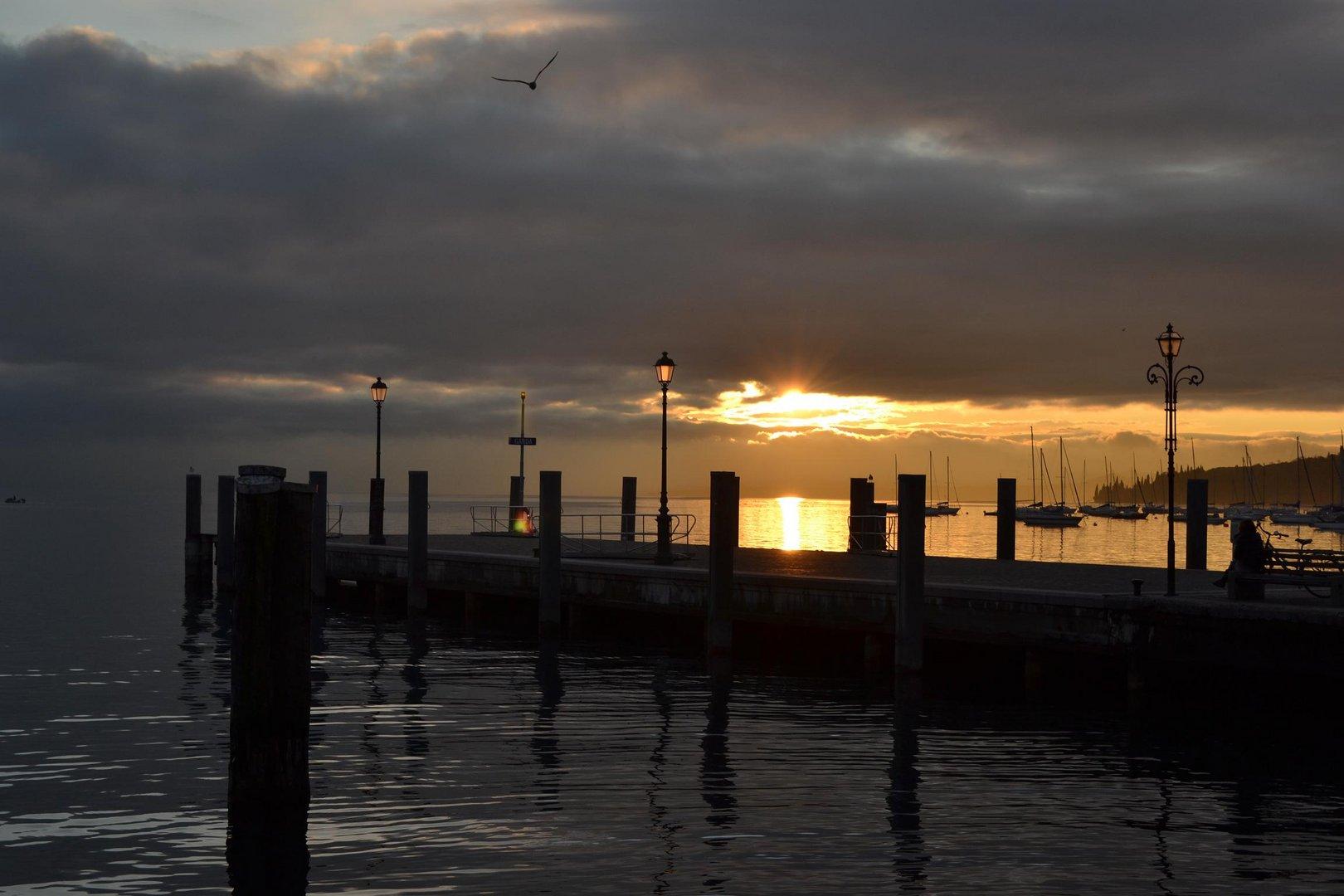 Sonnenuntergang in Garda