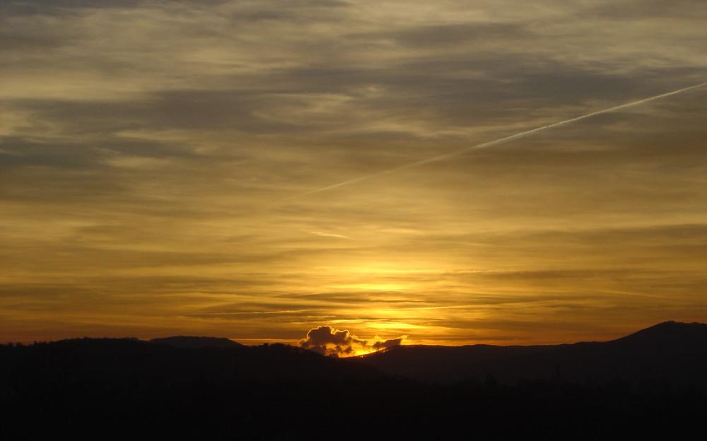 Sonnenuntergang in Gebenstorf (CH)