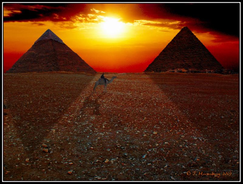 Sonnenuntergang in Gizeh!?