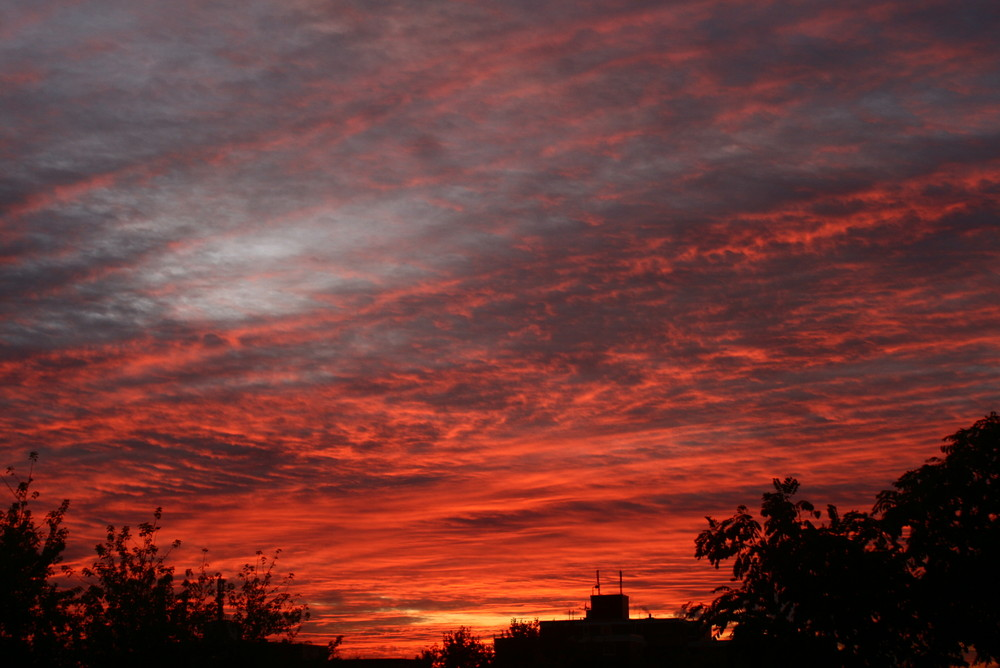 Sonnenuntergang in Gladbeck