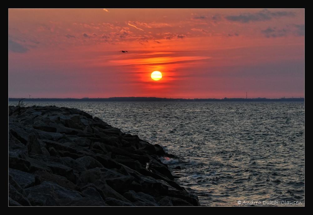 Sonnenuntergang in Glowe