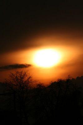 Sonnenuntergang in Goldach CH