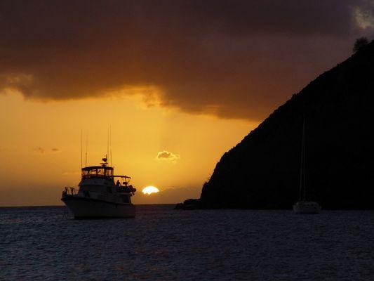 Sonnenuntergang in Gros Islet