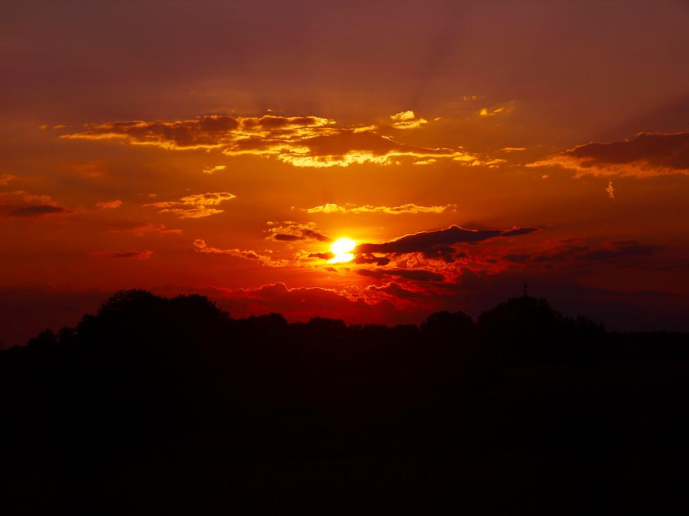 Sonnenuntergang in Haag bei Amstetten