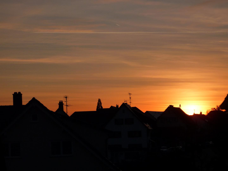Sonnenuntergang in Hagnau