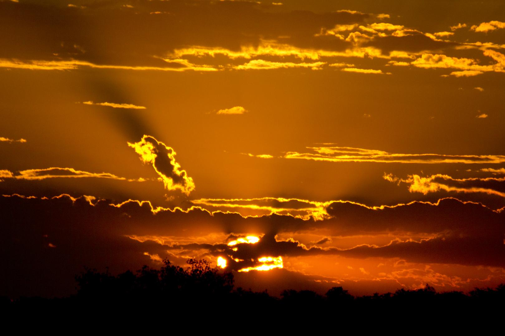 Sonnenuntergang in Halali