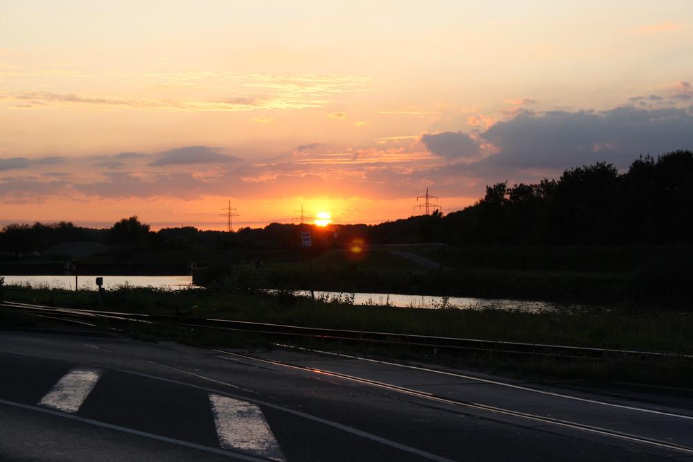 Sonnenuntergang in Hamm
