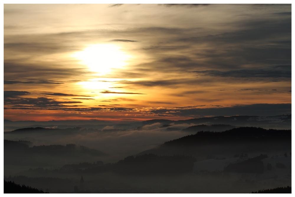 Sonnenuntergang in Haslach