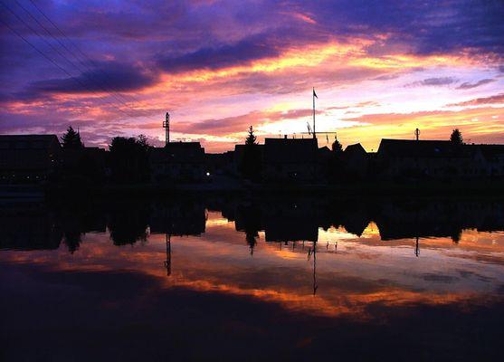 Sonnenuntergang in Haßmersheim