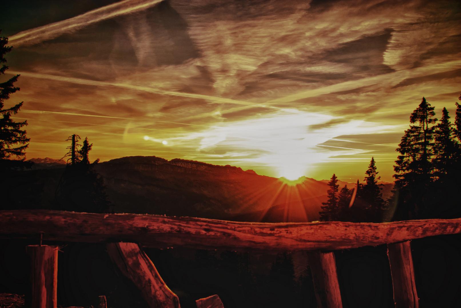 Sonnenuntergang in Hdr-Look