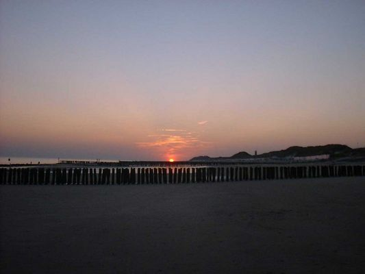 Sonnenuntergang in Holland/Zeeland