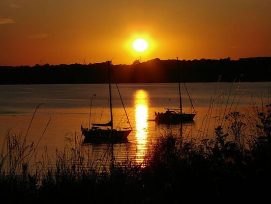 Sonnenuntergang in Holnis