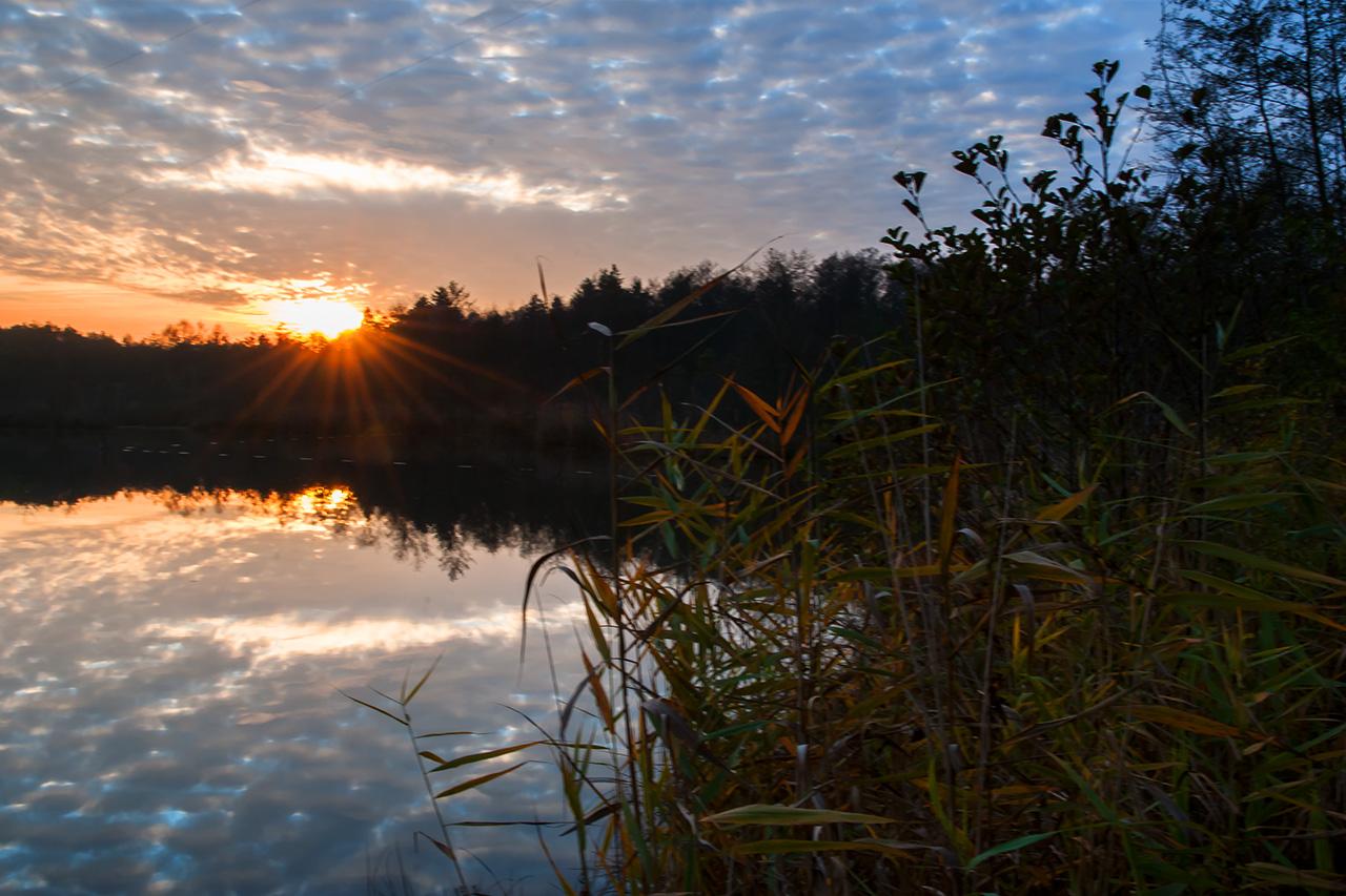 Sonnenuntergang in Holzöster