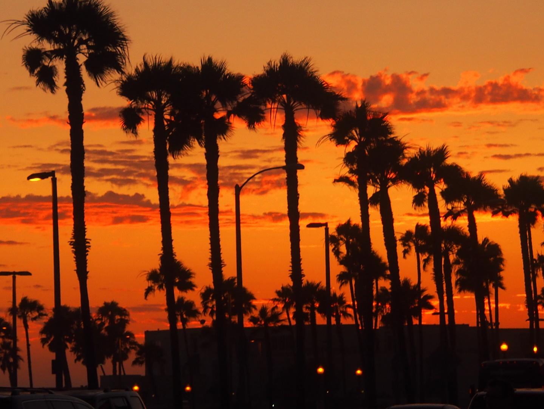 Sonnenuntergang in Huntington Beach