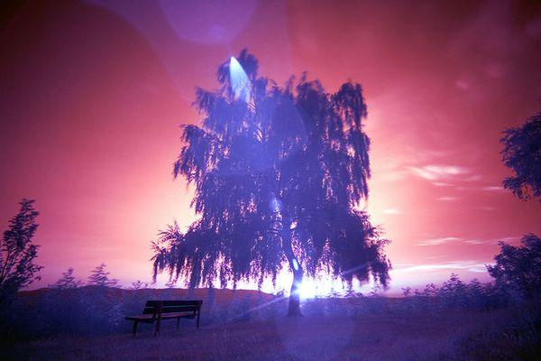 Sonnenuntergang in Infrarot