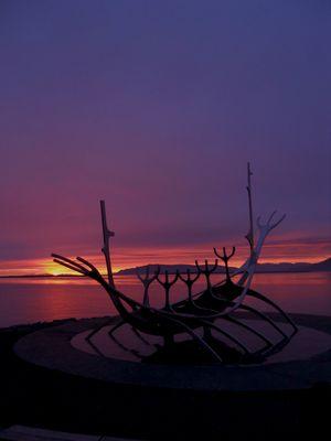 Sonnenuntergang in Island um 0.20 Uhr