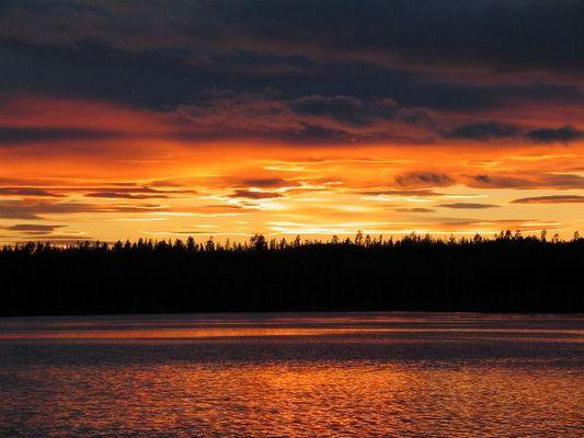 Sonnenuntergang in Jokkmokk