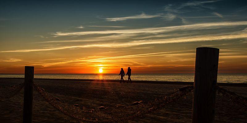 Sonnenuntergang in Jurmala