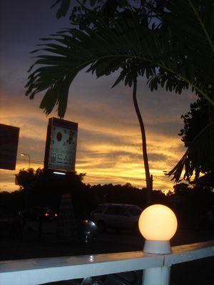 Sonnenuntergang in Kambotscha