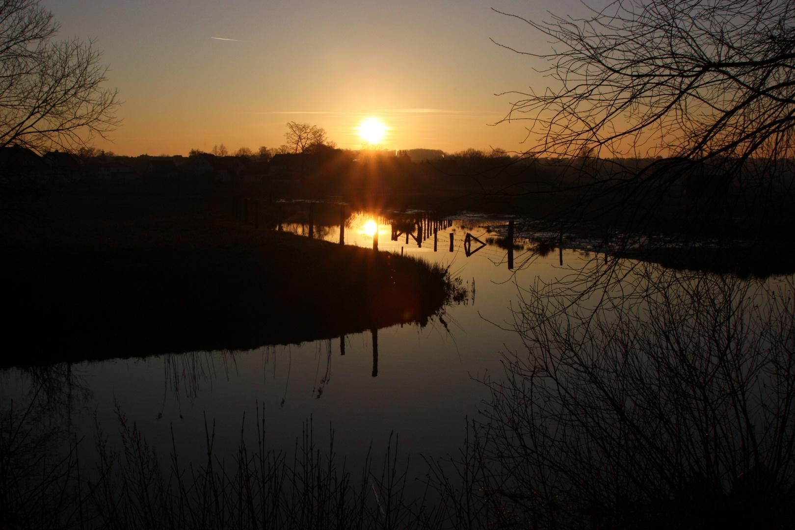 Sonnenuntergang in Kirchlengern