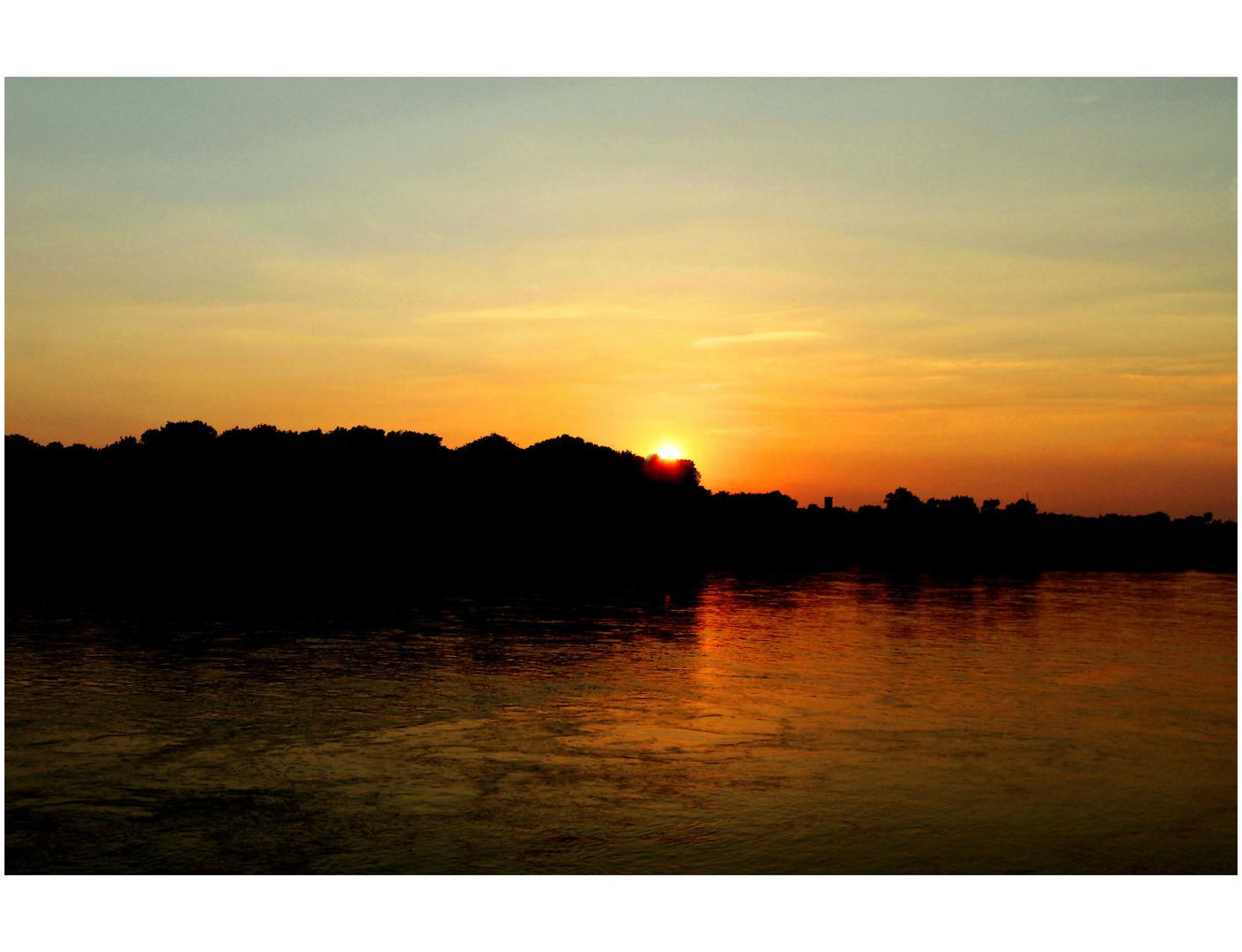 Sonnenuntergang in Königswinter