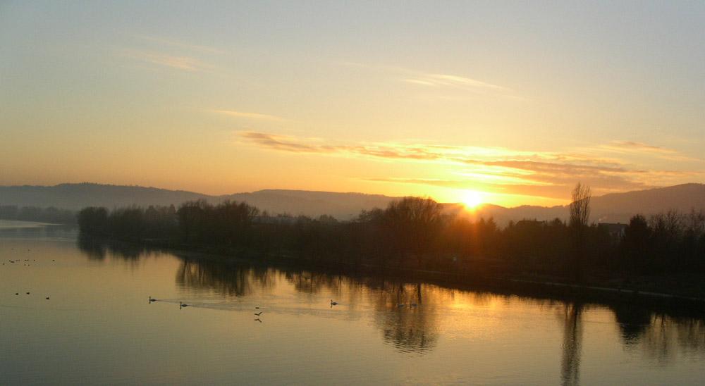 Sonnenuntergang in Konz