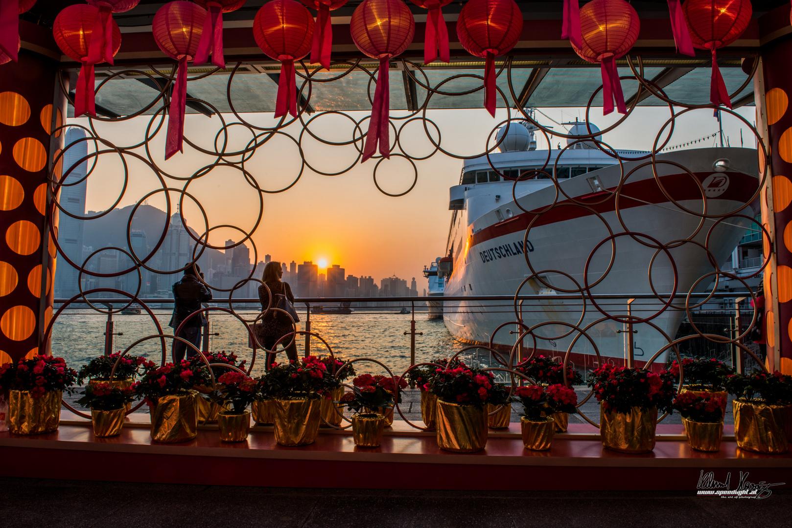 Sonnenuntergang in Kowloon