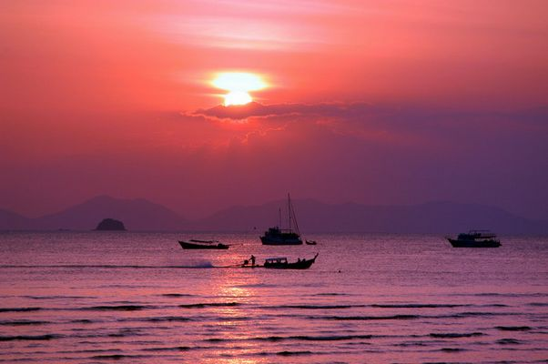 Sonnenuntergang in Krabi (Thailand)