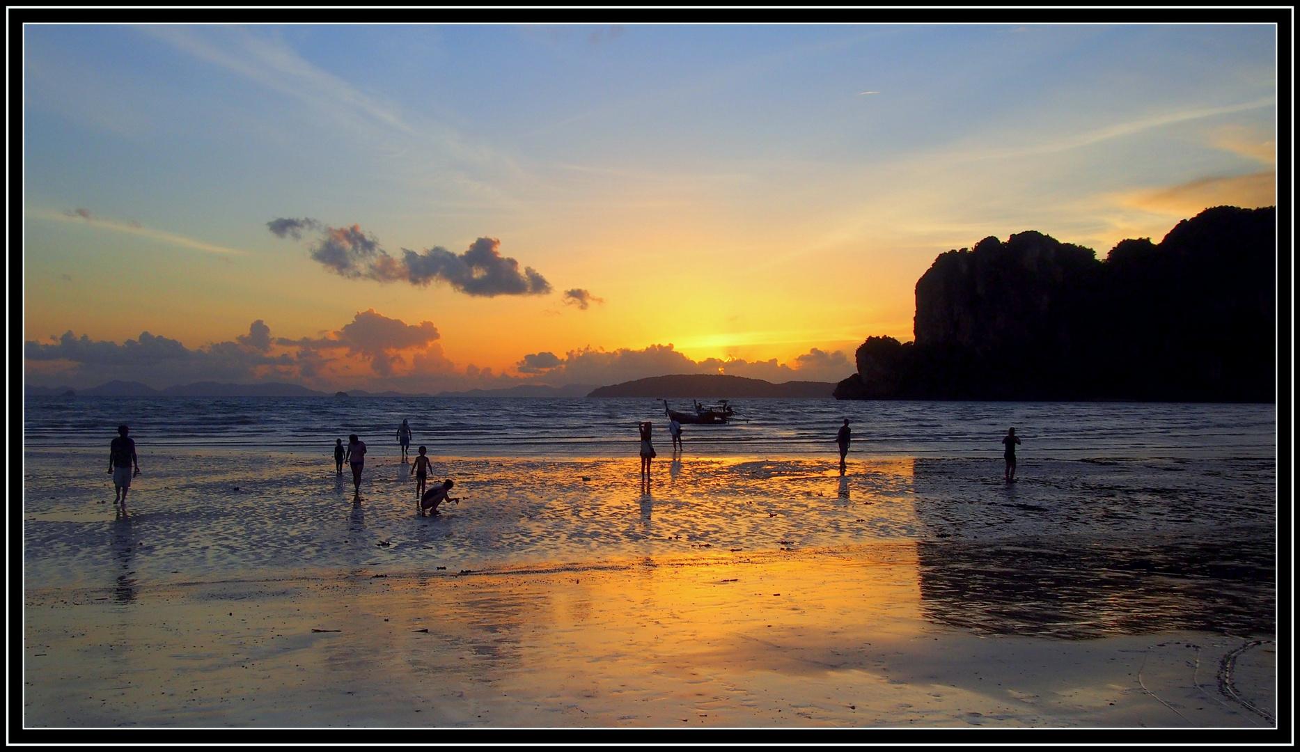 Sonnenuntergang in Krabi/Thailand